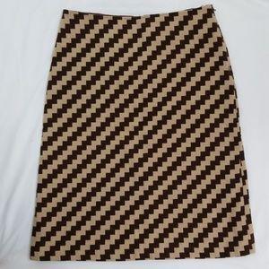 J. Crew Wool Zig Zag/Chevron Skirt Size 8
